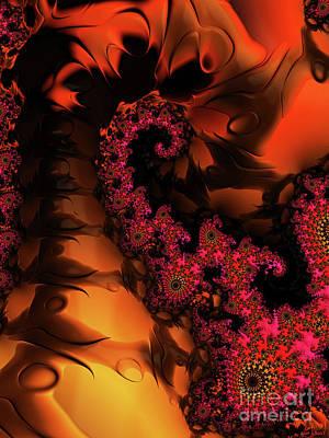 Digital Art - Twilight Flowers At Sunset  by Elizabeth McTaggart