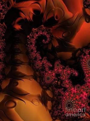Digital Art - dark Twilight Flowers on the Fractal Path by Elizabeth McTaggart