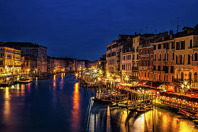 Twilight From The Rialto Bridge Art Print