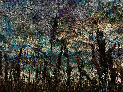 Digital Art - Twilight Grain by Kiki Art