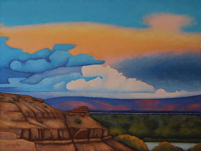 Painting - Twilight Hues by Gayle Faucette Wisbon