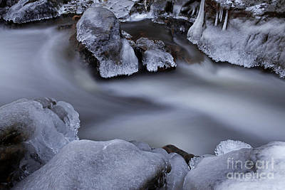 Photograph - Twilight Ice by John Stephens
