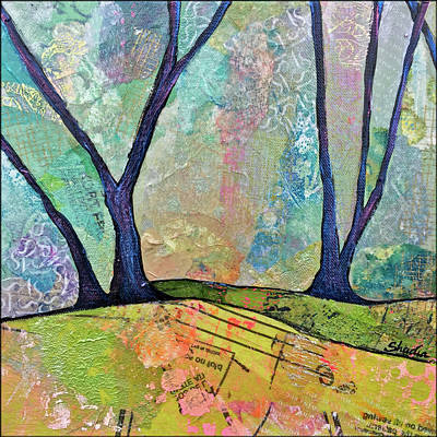 Tree-lined Painting - Twilight IIi by Shadia Derbyshire