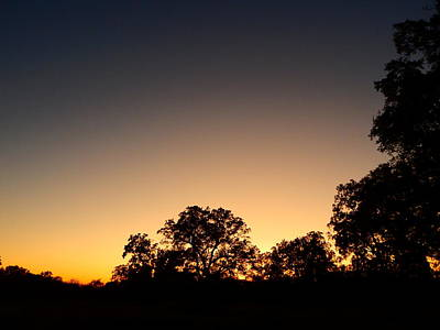 Photograph - twilight in Oklahoma by Virginia Kay White