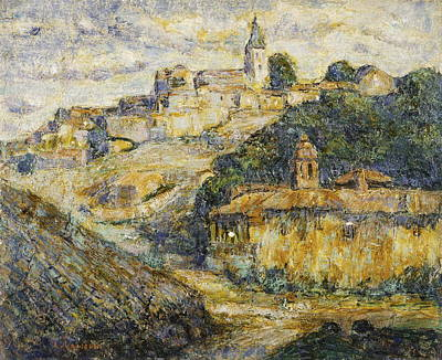 Medieval Temple Painting - Twilight In Spain by Ernest Lawson