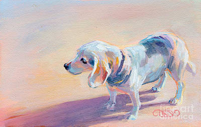 Dog Beach Painting - Twilight by Kimberly Santini