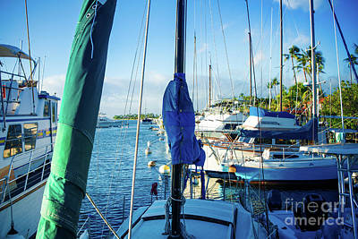 Twilight Lahaina Harbour Maui Hawaii Art Print by Sharon Mau