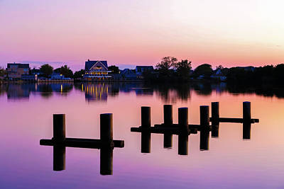 Photograph - Twilight Lake Sunset by Kathleen McGinley