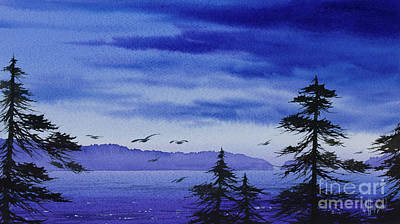 Painting - Twilight Landscape by James Williamson
