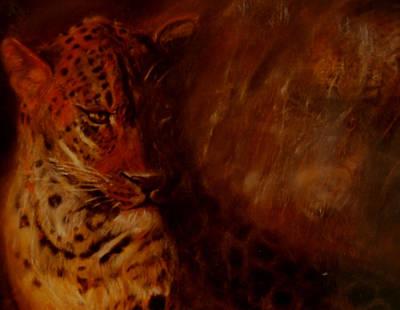 Twilight Leopard Art Print by Arlene Rabinowitz