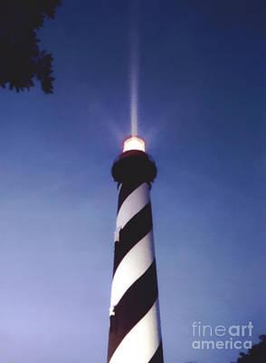 Photograph - Twilight Lighthouse by D Hackett