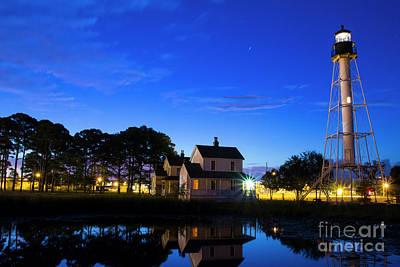 Photograph - Twilight Lighthouse, Port Saint Joe, Florida by Ben Sellars