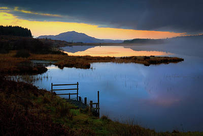 Photograph - Twilight, Loch Peallach by Peter OReilly