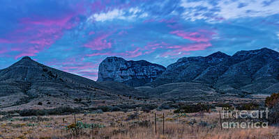 Photograph - Twilight Long Exposure Panorama Of El Capitan And Guadalupe Mountains - Culberson County West Texas by Silvio Ligutti