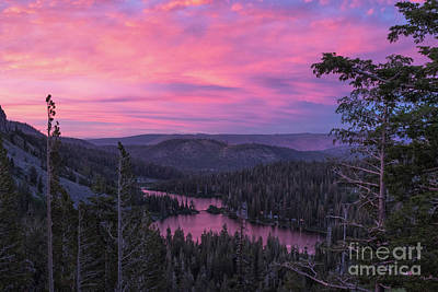 Twilight Mammoth Lakes  Art Print