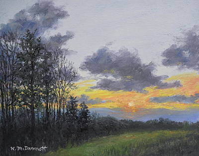 Painting - Twilight Meadow by Kathleen McDermott
