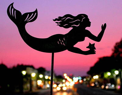 Photograph - Twilight Mermaid by Larry Beat