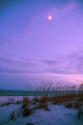 Photograph - Twilight Moon Over Sand Dunes by Marie Hicks