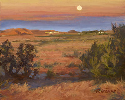 Painting - Twilight Moonrise, Valyermo by Jane Thorpe
