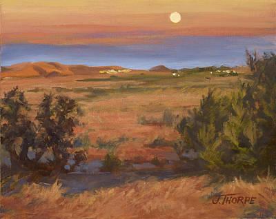 Painting - Twilight Moonrise, Valyermo by Jane Thorpe