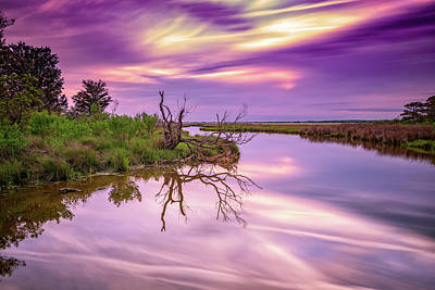 Photograph - Twilight On Assateague Island by Rick Berk