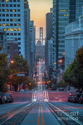 Photograph - Twilight On California Street by JR Photography