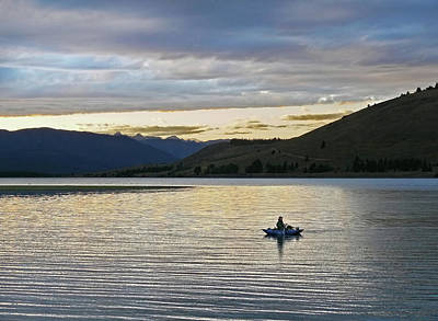 Photograph - Twilight On Hebgen Lake Montana by Jennie Marie Schell