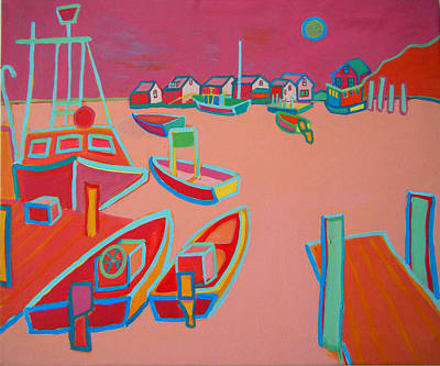 Fishing Shack Painting - Twilight On Menemsha by Debra Bretton Robinson