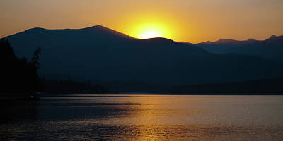 Photograph - Twilight On Priest Lake by David Patterson