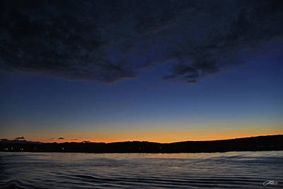 Photograph - Twilight On The Connecticut River by Mike M Burke