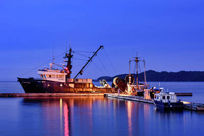 Photograph - Twilight On The Docks by Keith Boone