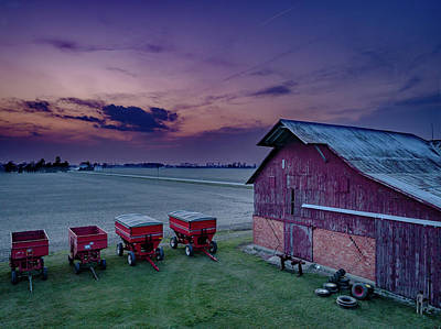 Twilight On The Farm Art Print