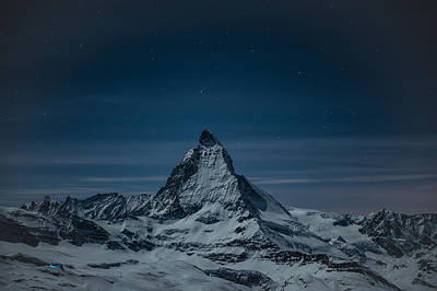 Photograph - Twilight On The Matterhorn Cervino by Brenda Jacobs