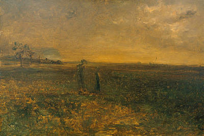 Painting - Twilight On The Prairie by George Fuller