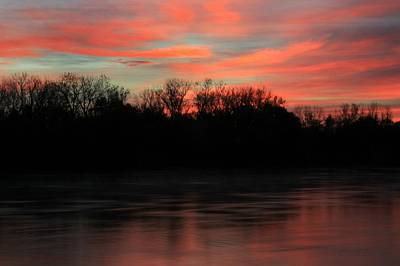Photograph - Twilight On The River by Chris Berry