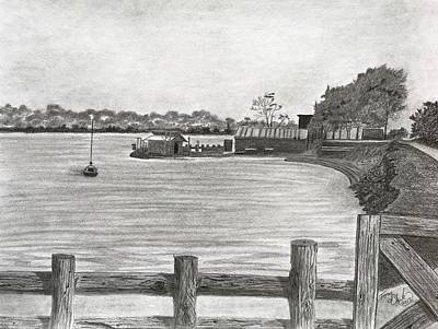 Drawing - Twilight On Tomales Bay by Tony Clark