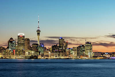 Aotearoa Photograph - Twilight Over Auckland by Dr K X Xhori
