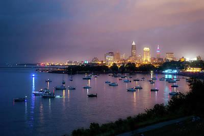 By Jackie Photograph - Twilight Over Cleveland by Jackie Sajewski
