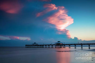 Photograph - Twilight Over Ft Myers Pier by Brian Jannsen