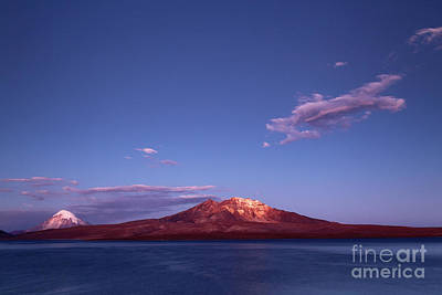Isi Photograph - Twilight Over Lake Chungara Chile by James Brunker