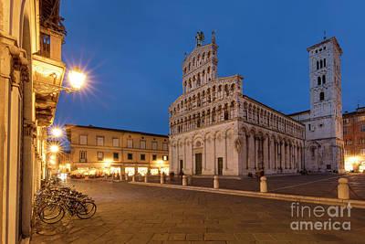 Twilight Over Lucca Art Print