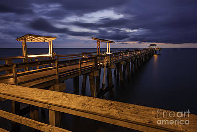 Photograph - Twilight Over Naples Pier by Brian Jannsen