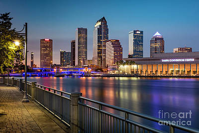 Photograph - Twilight Over Tampa Florida by Brian Jannsen