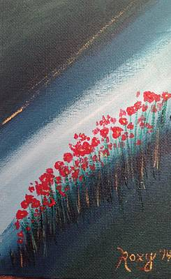 Impressionism Painting - Twilight Poppies by Roxy Rich