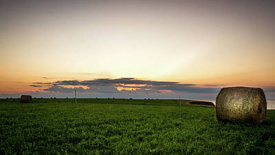 Photograph - Twilight Prince Edward Island Fields by Chris Bordeleau