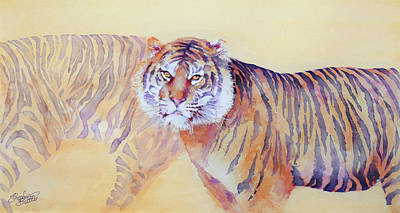 Painting - Twilight Prowl Of A Tiger by Stephie Butler