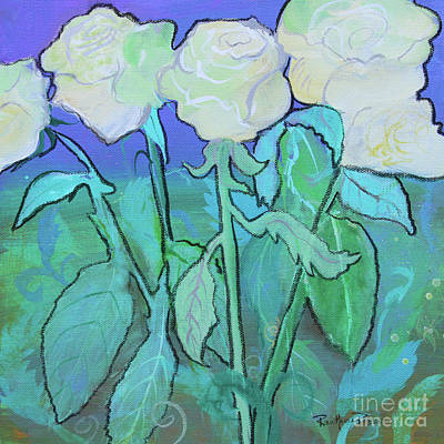 Painting - Twilight Roses by Robin Maria Pedrero