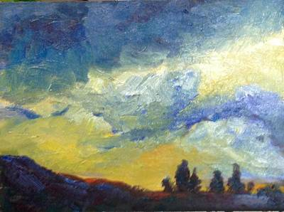 Painting - Twilight by Sally Fraser