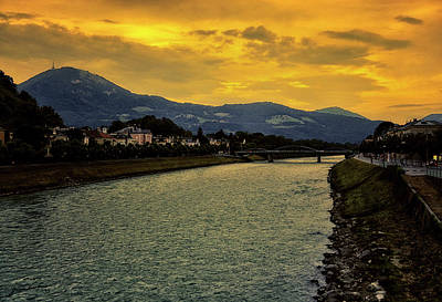 Photograph - Twilight Salzburg Austria by Gerlinde Keating - Galleria GK Keating Associates Inc