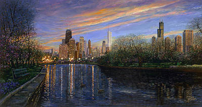 Painting - Twilight Serenity by Doug Kreuger